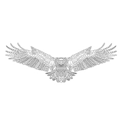 Zentangle stylized eagle Sketch for coloring page vector image