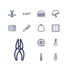 13 professional icons vector