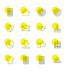 16 website icons vector image