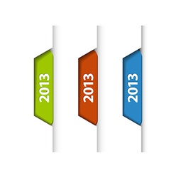 2013 Labels Stickers on the edge of the web page vector image
