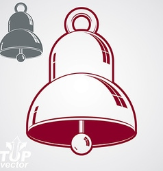 3d festive bell additional version included eps 8 vector