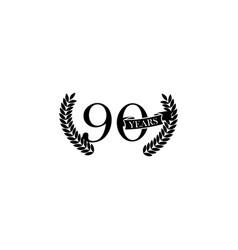 90 years anniversary sign element of anniversary vector image