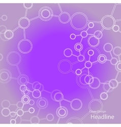 Abstract connection structure science vector