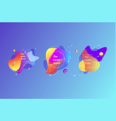 abstract set modern graphic elements vector image