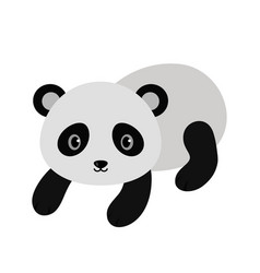 Adorable panda in flat style vector