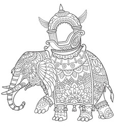 african or indian elephant vector image