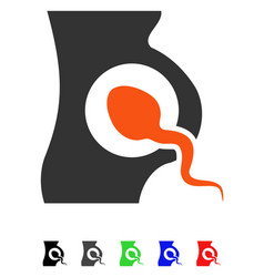 Artificial insemination flat icon vector
