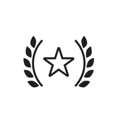 award star icon graphic design template vector image