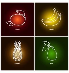 BananaMangoPineappleAvocado vector