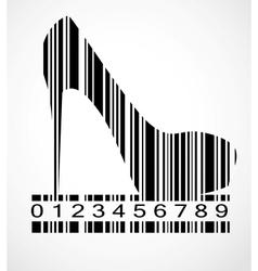 Barcode shoe image vector
