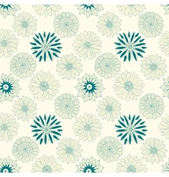 Beautiful line flowers vector image