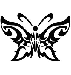 Black butterfly icon vector