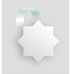 blank white wobbler hang on wall mock up 3d vector image