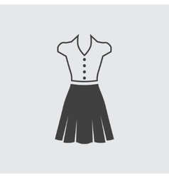 Blouse and skirt icon vector image