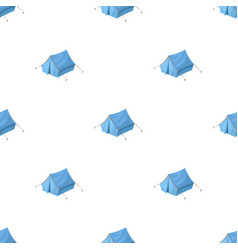 blue tent with pegshippy single icon in cartoon vector image