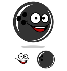 Bowling ball with a happy smile vector image