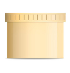 butter jar mockup realistic style vector image