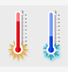 Celsius meteorology thermometers measuring heat vector