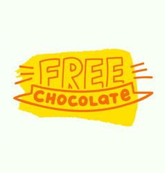 chocolate free label allergen food gmo free vector image
