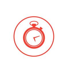 chronometer icon on white vector image