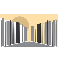 Contemporary urban landscape vector