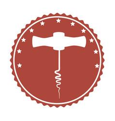 Corkscrew tool isolated icon vector