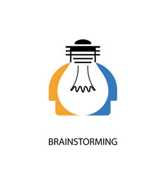 Creative light bulb and human heads design vector