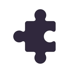 dark blue piece of puzzles vector image