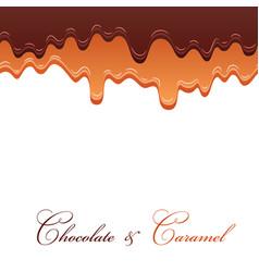 dark chocolate caramel seamless pattern drip vector image