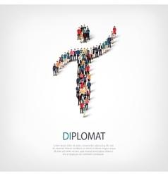 Diplomat people symbol vector