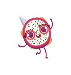 Dragon Fruit Girly Cartoon Character vector