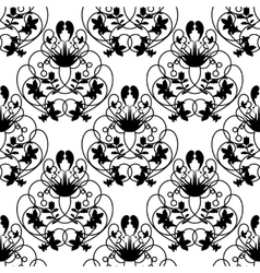 Elegant damask white seamless background vector image