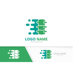 Fast spine logo combination speed vector