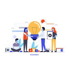 flat color modern design - innovation vector image