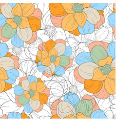 floral seamless repeat pattern detailed vector image