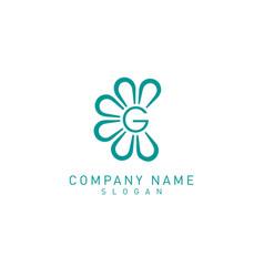 flower g logo vector image