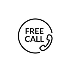 Free call line icon phone call care vector