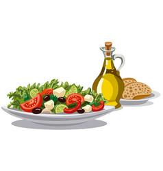 fresh greek salad vector image