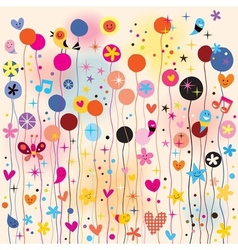 Fun colorful background vector