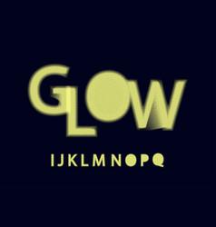 Glow halftone font alphabet i j k l m n o p q vector