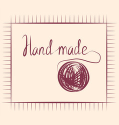 Hand draw accessories for sewing handmade design vector