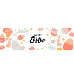 Happy easter banner trendy easter design vector
