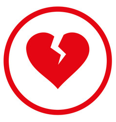 heart break rounded icon vector image