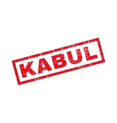Kabul Rubber Stamp vector