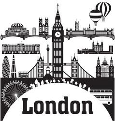 london city skyline 9 vector image