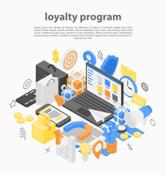 Loyalty program concept background isometric vector
