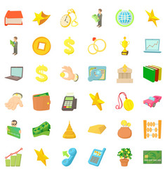 lucre icons set cartoon style vector image