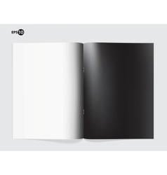 Magazine blank page template for design layout vector image