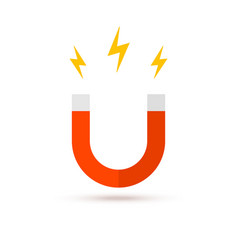 Magnet logo icon electromagnetic fieldd vector