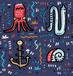 marine life design vector image